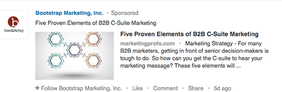LinkedIn Ad Bootstrap Marketing